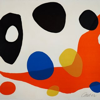 Alexander Calder, Composition (Red Boomerang)