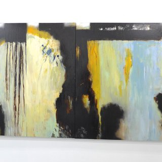 The Atmosphere of Nothingness, Untitled Painting 3 (Diptych) art for sale