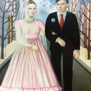 """Bride and Groom"" art for sale"