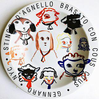 Stinco D'Agnello Brasato Con Cous Cous - Gennaro - New York City, 2001 art for sale