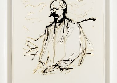 "work by Analia Saban - Collapsed Drawing: ""Friedrich Nietzsche"" (Edvar..."