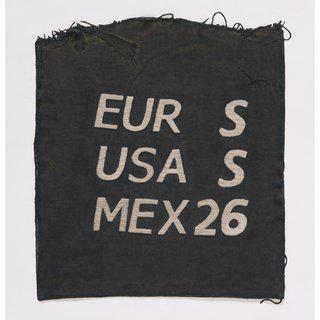 EUR S, USA S, MEX 26, Clothing Tag art for sale