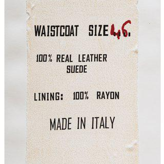 Waistcoat Size 46, Made in Italy, Clothing Tag art for sale