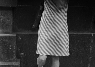 work by Andrew Lanyon - Striped Dress