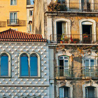 Alfama Facades art for sale