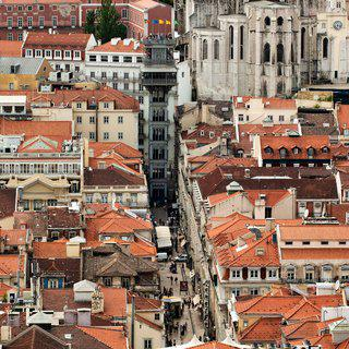 Santa Justa from Above, Lisbon art for sale