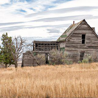 Abandoned Farmhouse, Biglow Canyon #2 art for sale