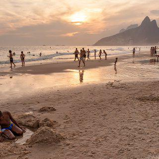 Ipanema at Sunset art for sale