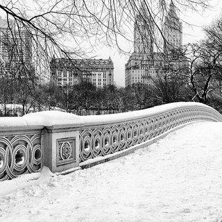 Andrew Prokos, Bow Bridge in Winter, Central Park