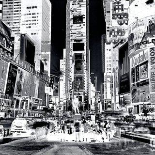 Inverted Times Square art for sale