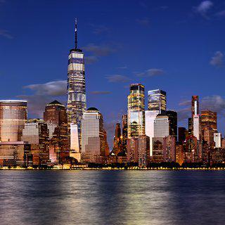 Lower Manhattan and World Trade Center at Dusk art for sale