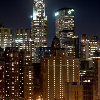 Andrew Prokos, Panoramic View of Midtown Manhattan and Chrysler Building at Night