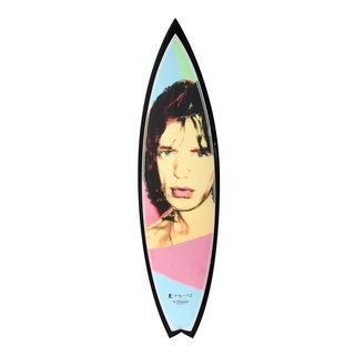 Mick Blue Surfboard art for sale