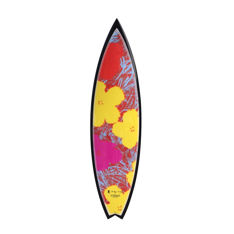 by after-andy-warhol - Flowers Yellow Surfboard