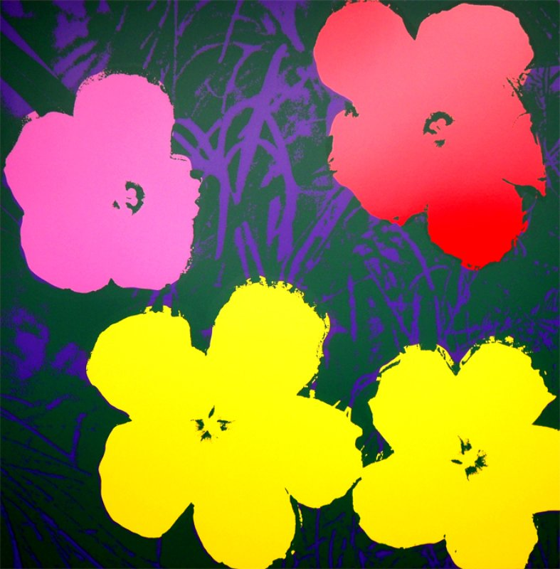 After Andy Warhol, Flowers Portfolio -