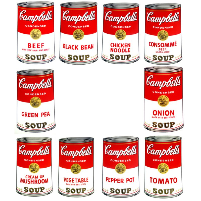 main work - After Andy Warhol, Campbell's Soup portfolio