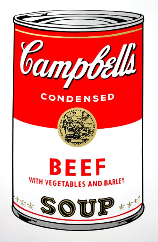 view:14248 - After Andy Warhol, Campbell's Soup portfolio -