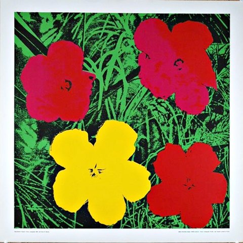 Andy Warhol - Red & Yellow Flowers, Print