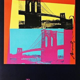 The Brooklyn Bridge (Hand Signed by Andy Warhol) art for sale