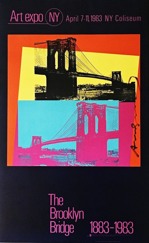 by andy_warhol - The Brooklyn Bridge (Hand Signed by Andy Warhol)