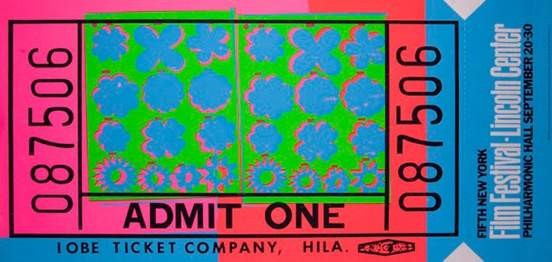 by andy_warhol - Lincoln Center Ticket (Feldman & Schellmann, II.19)
