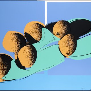 Space Fruit: Still Lifes - Cantaloupes I art for sale