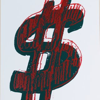 Dollar Sign, Red (FS II.278) art for sale