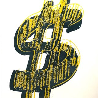 Dollar Sign, Yellow (FS II.278) art for sale