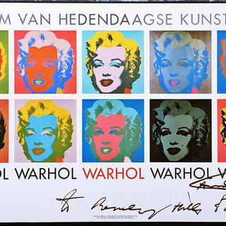 "Marilyn 1964, hand signed and inscribed ""to Beverly Hills Brat"" by Andy Warhol, art for sale"