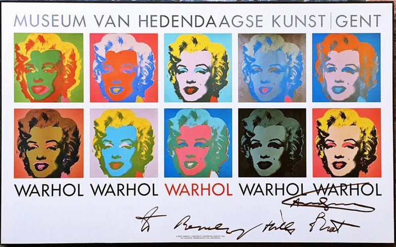 "by andy_warhol - Marilyn 1964, hand signed and inscribed ""to Beverly Hills Brat"" by Andy Warhol,"
