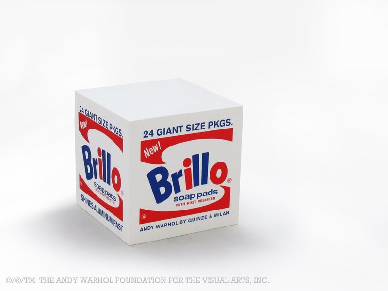 view:1017 - After Andy Warhol, Brillo Box POUF White -