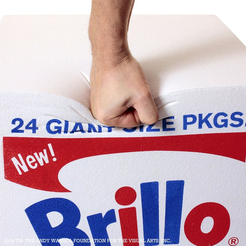 view:1018 - After Andy Warhol, Brillo Box POUF White -