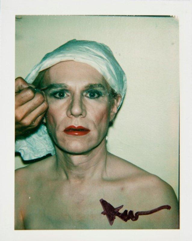 Andy Warhol, Self Portrait In Drag