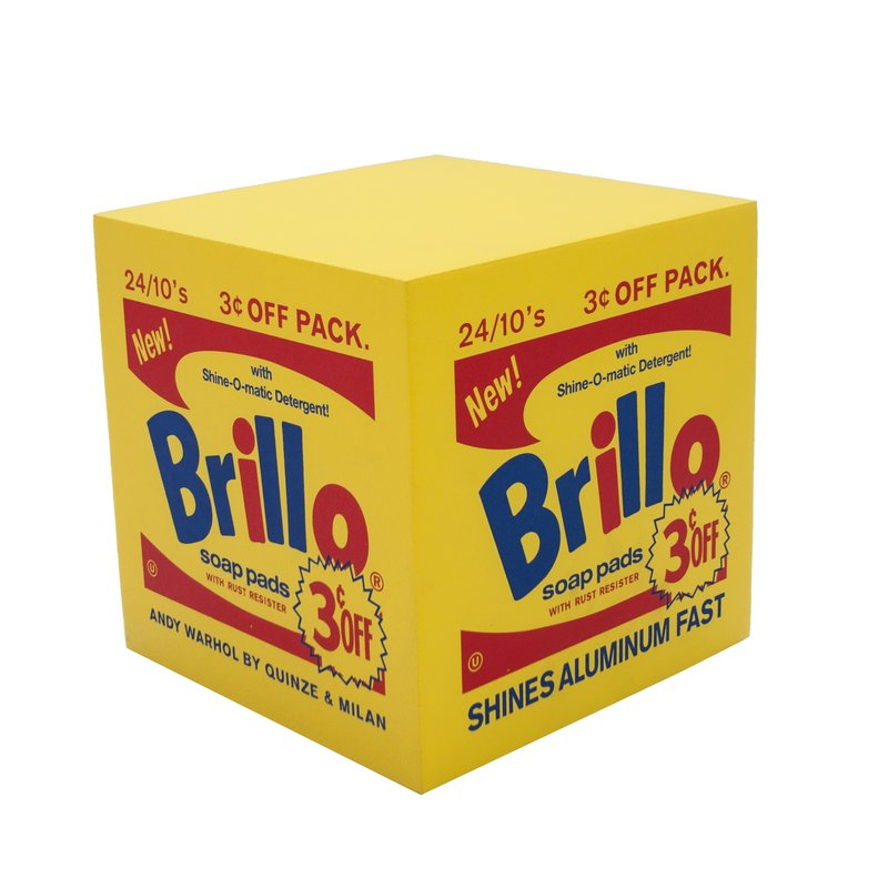 by after-andy-warhol - Brillo Box POUF Yellow