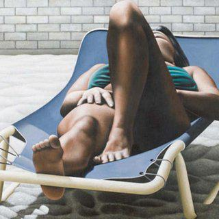 Woman Sunbathing art for sale
