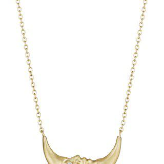 Anthony Lent, Crescent Moonface Necklace with Diamond Eyes