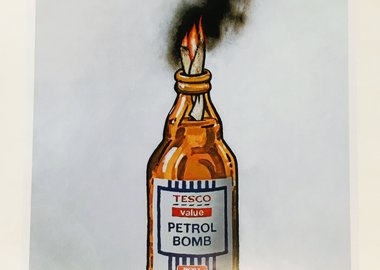 work by Banksy - Petrol Bomb