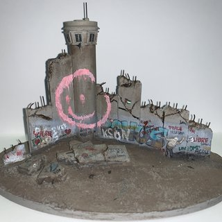 Banksy, Defeated Wall Section (Smile)