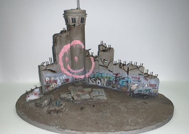Banksy - Defeated Wall Section (Smile)