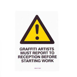 Graffiti Artists Must Report to Reception art for sale