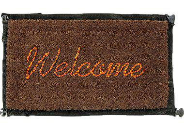 work by Banksy - Welcome Mat