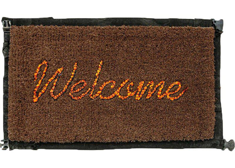 main work - Banksy, Welcome Mat