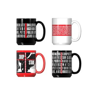 Untitled (Shafted) Mug Set art for sale