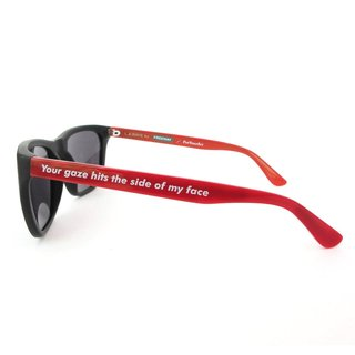 Barbara Kruger, L.A. Rays Sunglasses Black and Red