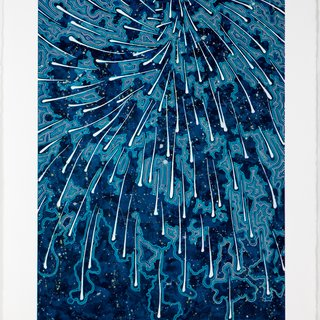 Falling (blue concentrate) art for sale