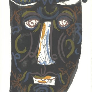 Ben Shahn, Mask (The Mask of the Women with the Comb)
