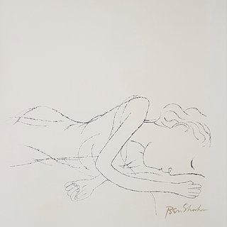 Ben Shahn, Of light, white, sleeping women in childbed