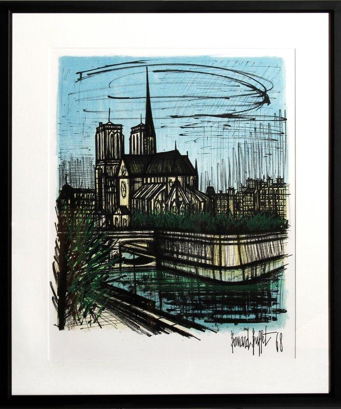Enjoyable Bernard Buffet Notre Dame For Sale Artspace Download Free Architecture Designs Xaembritishbridgeorg