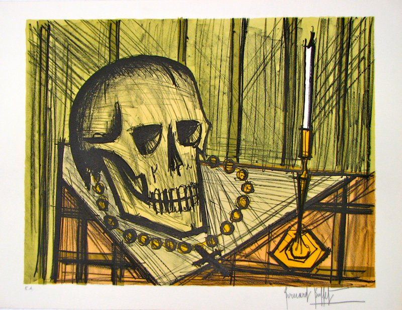 Prime Bernard Buffet Vanite Au Crane For Sale Artspace Download Free Architecture Designs Scobabritishbridgeorg