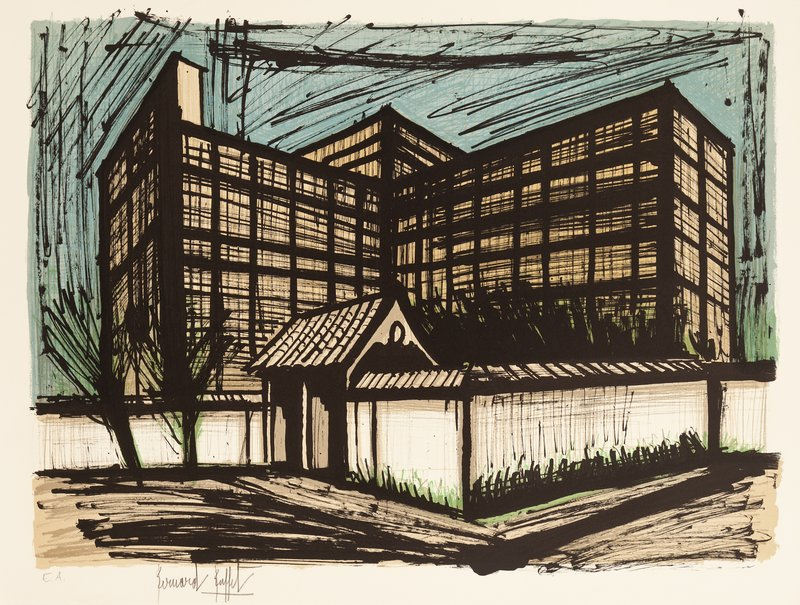 Magnificent Bernard Buffet Lhotel Fujita A Kyoto For Sale Artspace Home Interior And Landscaping Ologienasavecom